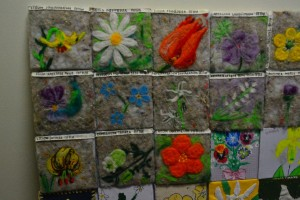 Bulgarian Fetwork - WIld Flower Europe Patchwork meadow project